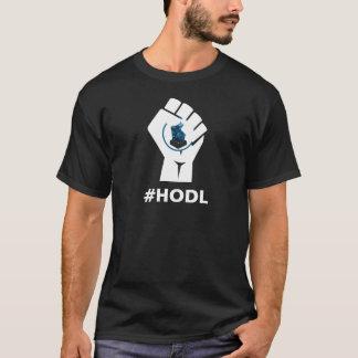 HODL Lisk LSK Logo: White T-Shirt