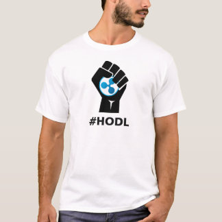 HODL Ripple XRP Logo: Black T-Shirt