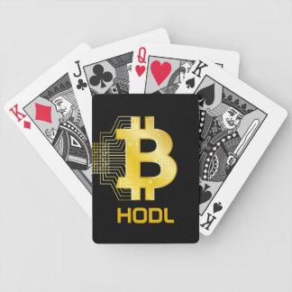 HODL your bitcoin Bicycle Playing Cards