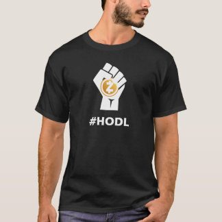 HODL ZCASH ZEC Logo: White T-Shirt