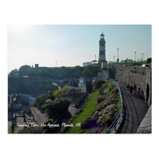 Hoe Approach & Smeaton's Tower, Plymouth postcard