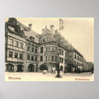 Hofbrauhaus, Munich, Germany 1900 Vintage Poster