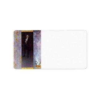 Hofburg actor Josef Lewinsky as Carlos by Klimt Address Label