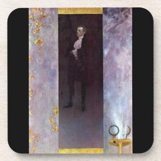 Hofburg actor Josef Lewinsky as Carlos by Klimt Drink Coaster