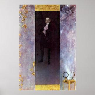 Hofburg actor Josef Lewinsky as Carlos by Klimt Poster