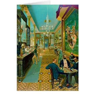 Hoffman House Bar 1890 Card