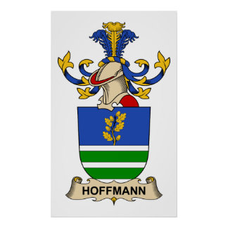 Hoffmann Family Crest Poster