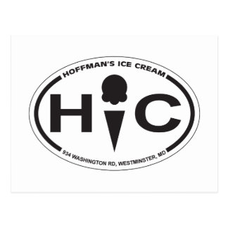 Hoffman's Oval Logo Post Card