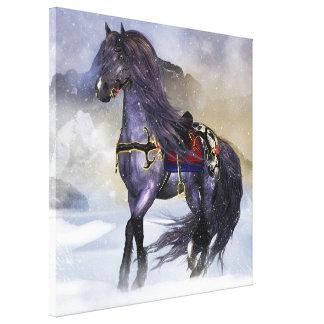 Hofvarpnir Equine Wall Art Stretched Canvas Print