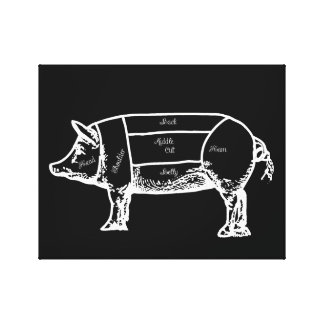 hog chart canvas print
