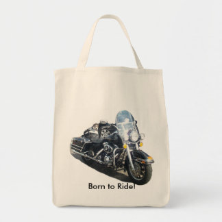 Hog Dog - Born to Ride! Grocery Tote Bag