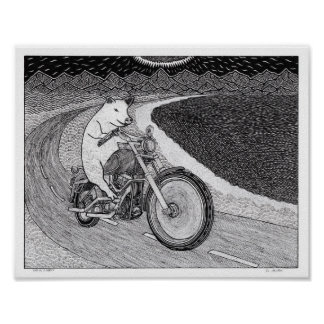 Hog on a Harley Poster