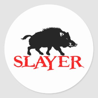 HOG SLAYER ROUND STICKER