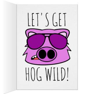 Hog Wild Birthday Card