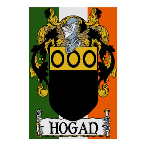 Hogan Coat of Arms Irish Flag Print