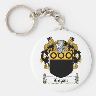 Hogan Family Crest Basic Round Button Key Ring