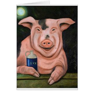 Hogging The Moonshine Card