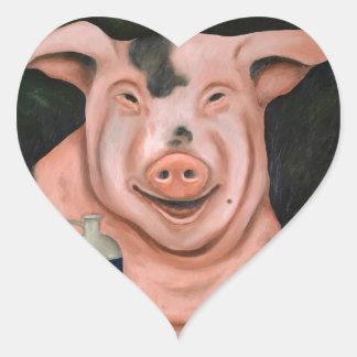 Hogging The Moonshine Heart Sticker