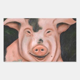 Hogging The Moonshine Rectangular Sticker