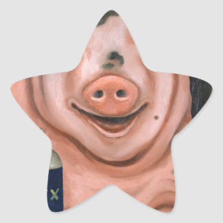 Hogging The Moonshine Star Sticker