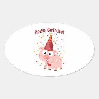 Hoggy Birthday! Sticker