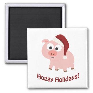 Hoggy Holidays! Refrigerator Magnet