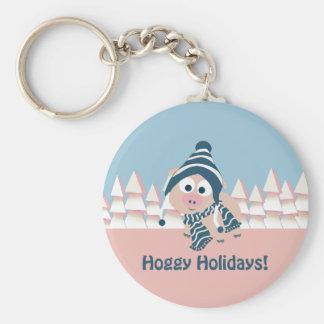 Hoggy Holidays! Winter Pig Keychains
