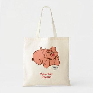 Hogs and Kisses XOXOXO Tote Bag