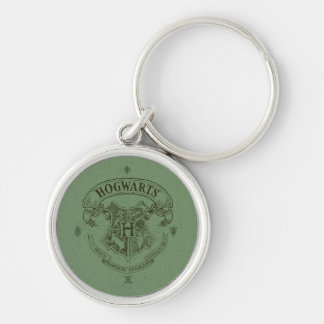 HOGWARTS™ Banner Crest Silver-Colored Round Key Ring