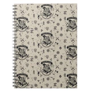HOGWARTS™ Beige Pattern Notebook