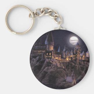 Hogwarts Boats To Castle Basic Round Button Key Ring