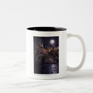 Hogwarts Boats To Castle Two-Tone Coffee Mug