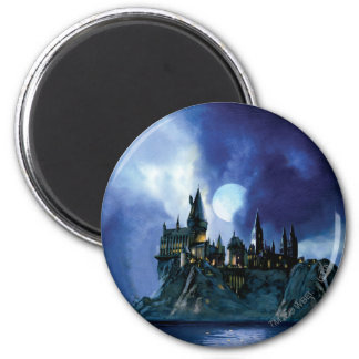 Hogwarts By Moonlight 6 Cm Round Magnet