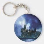 Hogwarts By Moonlight Basic Round Button Key Ring