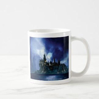 Hogwarts By Moonlight Basic White Mug