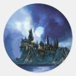Hogwarts By Moonlight Round Sticker