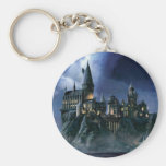 Hogwarts Castle At Night Basic Round Button Key Ring