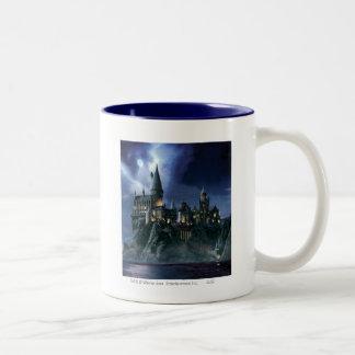 Hogwarts Castle At Night Two-Tone Mug