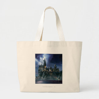 Hogwarts Castle At Night Tote Bags