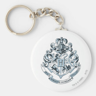 Hogwarts Crest Blue Basic Round Button Key Ring