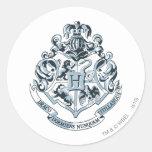 Hogwarts Crest Blue Stickers