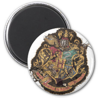 Hogwarts Crest - Destroyed 6 Cm Round Magnet