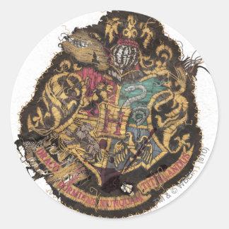 Hogwarts Crest - Destroyed Classic Round Sticker
