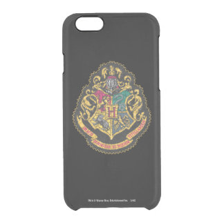 Hogwarts Crest - Destroyed Clear iPhone 6/6S Case