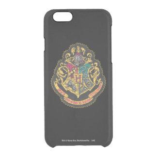 Hogwarts Crest - Destroyed Clear iPhone 6/6S Case
