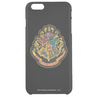 Hogwarts Crest - Destroyed Clear iPhone 6 Plus Case