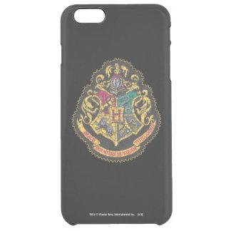 Hogwarts Crest - Destroyed Clear iPhone 6 Plus Case