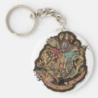 Hogwarts Crest - Destroyed Basic Round Button Key Ring