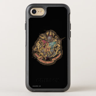 Hogwarts Crest - Destroyed OtterBox Symmetry iPhone 7 Case