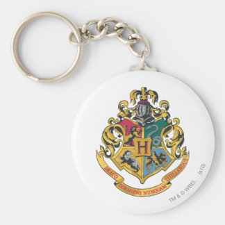 Hogwarts Crest Full Color Basic Round Button Key Ring
